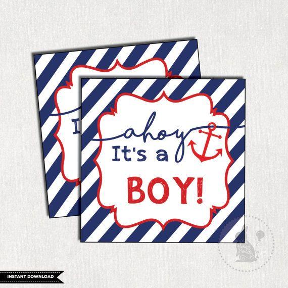 nautical favor tags nautical baby shower von