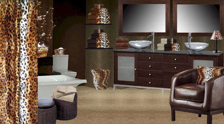 97 best shower curtains etc images on pinterest kid for Cheetah bathroom ideas