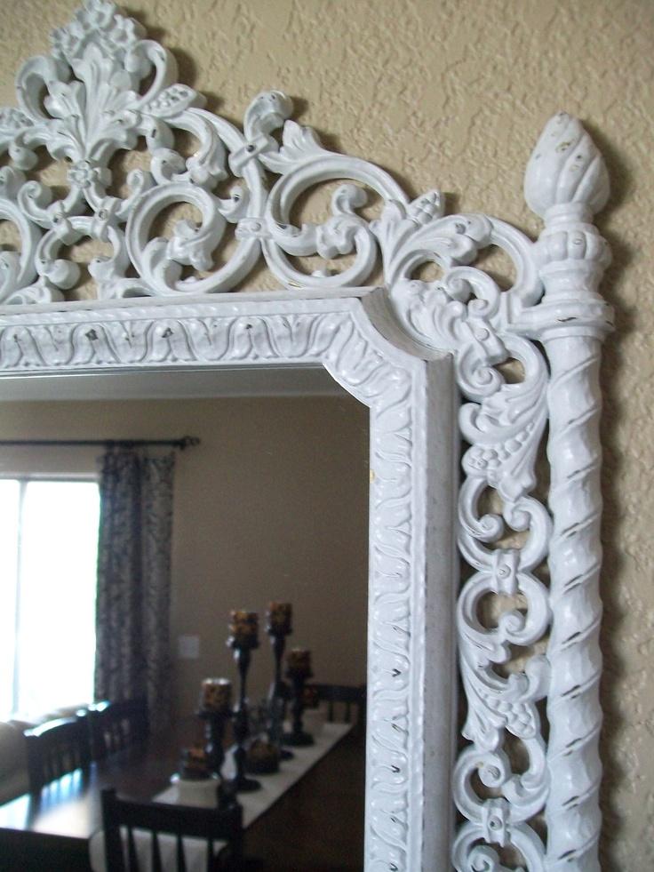 romantic baroque ornate vintage frame wall mirror u0026 color