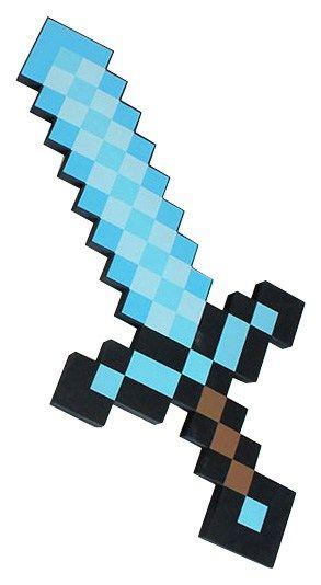 Espada Minecraft. El arma perfecta contra la delincuencia - portal #Ñoño .-.-.-..  ..-.-.-.---.-.....-.-....-.----....-.--.  ...----.-...-.-.--....-.-..-.-.-.-.-.-..-.-.-  Espada Minecraft: fabricada con goma eva de alta densidad; mide 60 x 29 cms; empaque: bolsa. El arma más usada en el mundo de Minecraft.