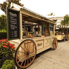 fairground food cart wood - Google Search