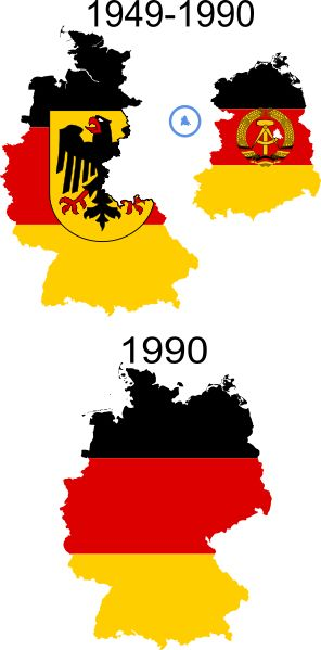 Flag map of Germany (separation)