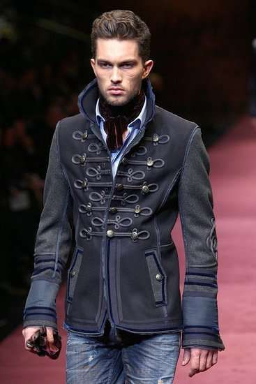 This male military inspired jacket very much resembles that of a true, historic military officer.: