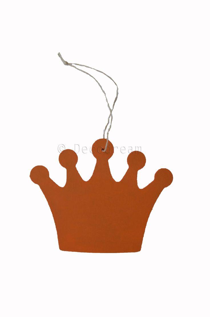 Oranje kroontje, leuke versiering voor Koningsdag! Kijk voor meer decoratie op www.decodream.nl
