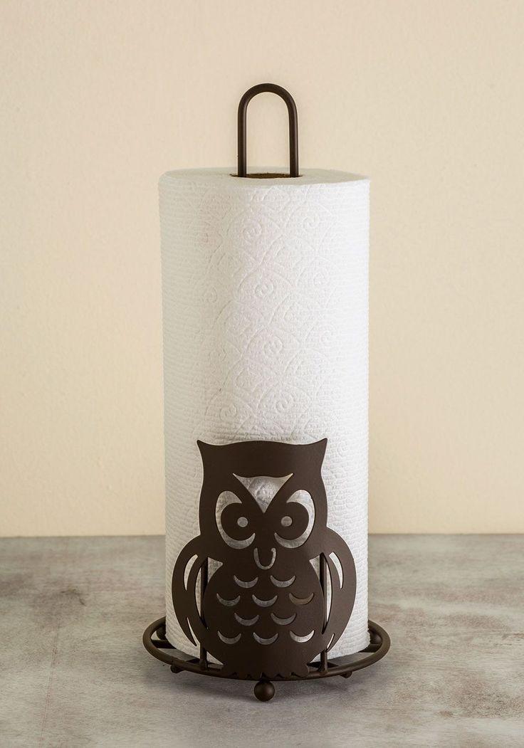 Your Finest Owl Paper Towel Holder