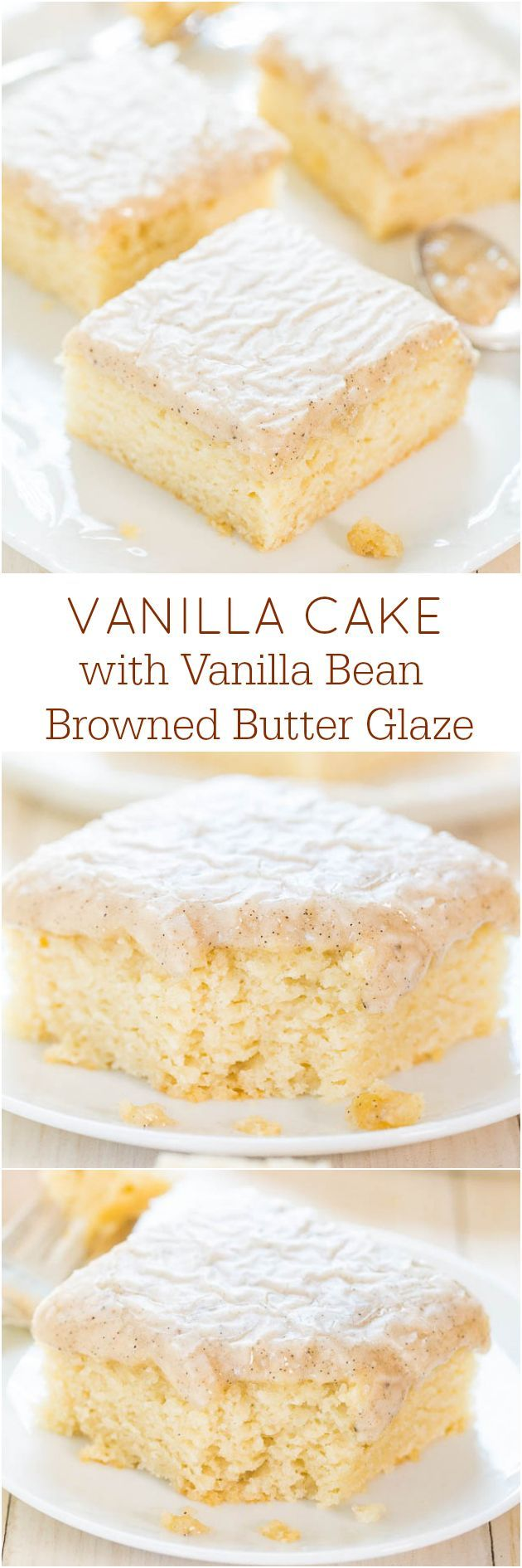 Vanilla Cake with Vanilla Bean Browned Butter Glaze | Nosh-up