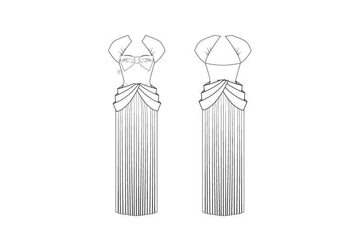 Diseño por Gabriela Buitrago  #FashionDesignApp #FlatSketch