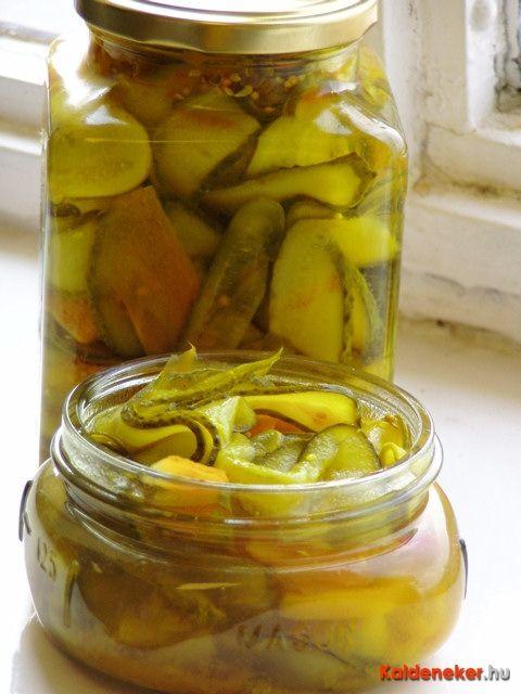 spicy pickles (preservation) pikáns savanyúság (dunsztos)