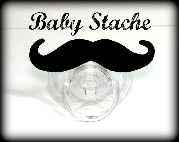 Mustache Pacifier - Baby Mustache - The Handlebar. $10.50, via Etsy.