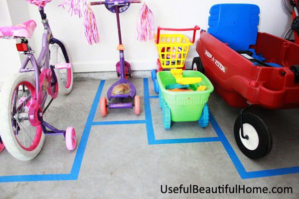 Parking Pad for Toys - might have to try this.