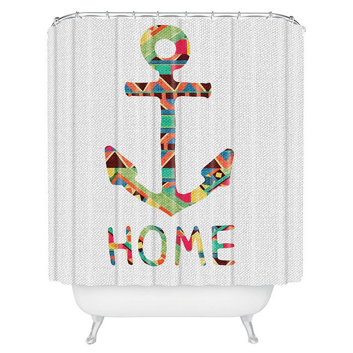 DENY Designs Bianca Green You Make Me Home Shower Curtain   Anchors Away    The Updated Nautical Style Of The DENY Designs Bianca Green You Make Me  Home ...