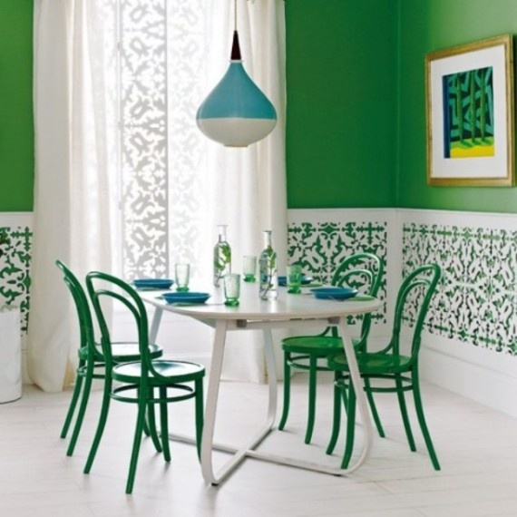 A cool green room from the @BrightNest Blog!