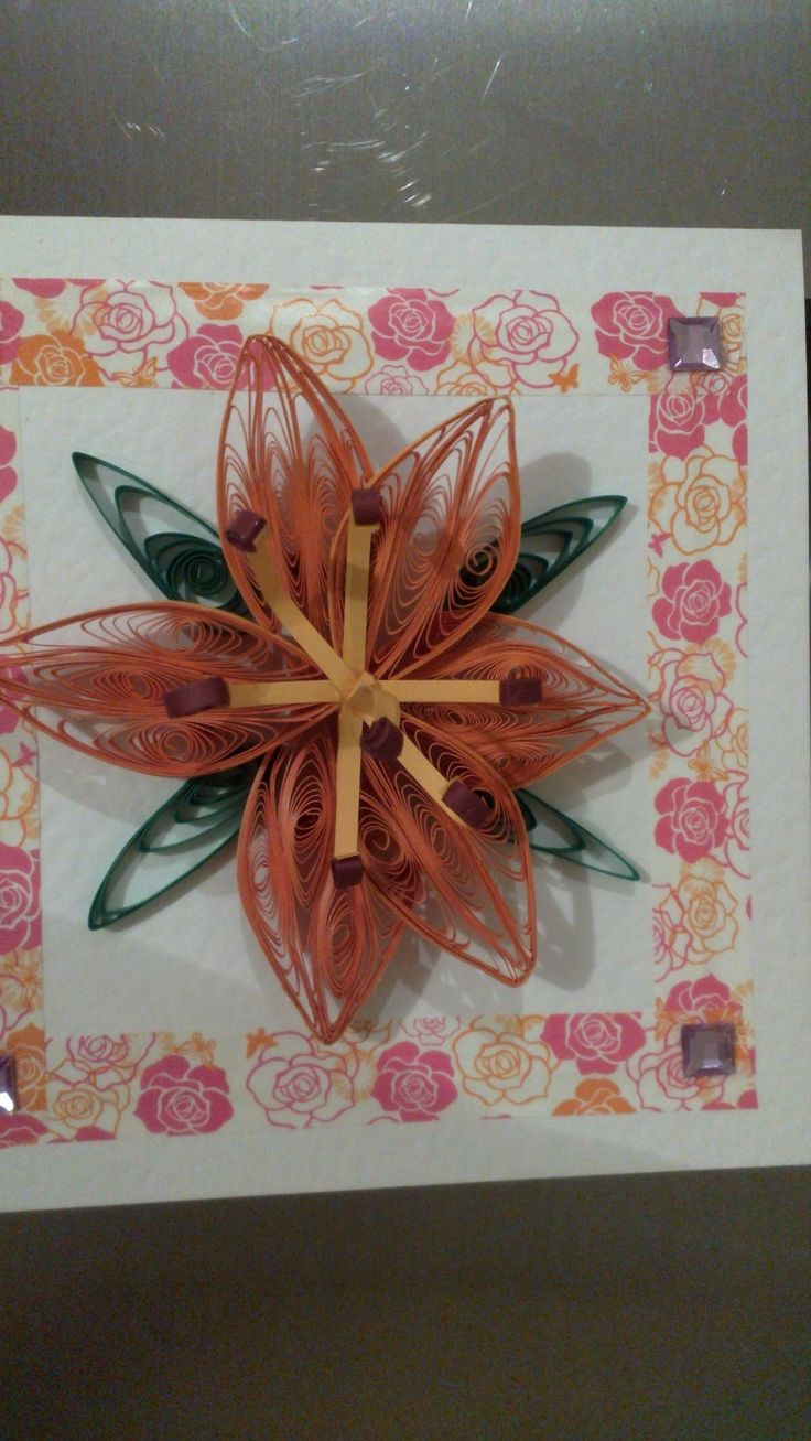 3D Orange Lilly I made for my sister in law Glenda, Completed