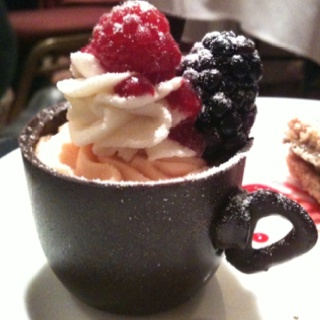 Chocolate dessert Cup with Berries | Bakery: Products | Pinterest