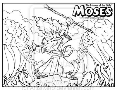 Moses Coloring Page by ArtistXero.deviantart.com on