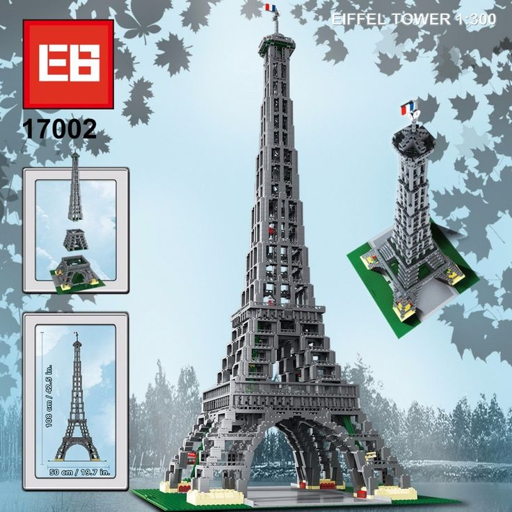 155.39$  Watch now - http://alitg6.worldwells.pw/go.php?t=32771208899 - 3478pcs model World famous Architecture Eiffel Tower of Paris France building block compatible with legoes city 10181 toys