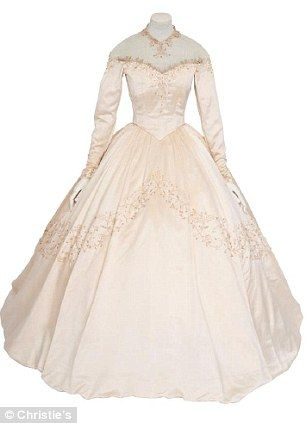 Elizabeth Taylor's Helen Rose wedding dress for her marriage to Conrad  Hilton Jr in 1950, when Taylor was just 18 years old