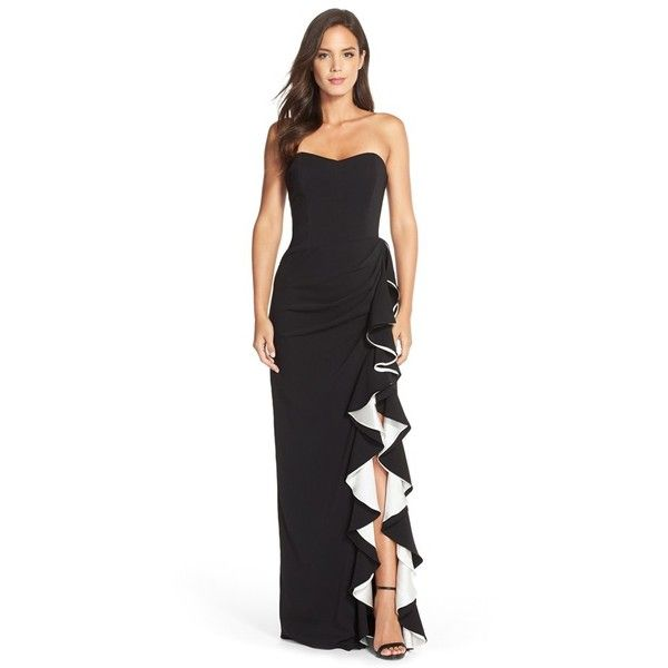 1000  ideas about Black And White Evening Dresses on Pinterest ...