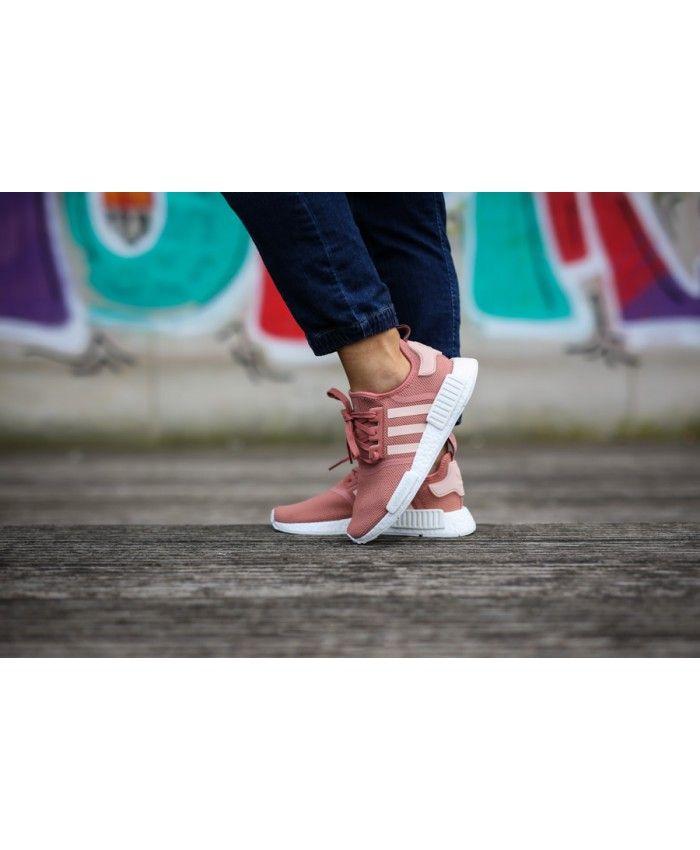 be73cf33746ae Adidas NMD R1 Boost Original Rose Pink White Shoe Womens Cheap Sale ...