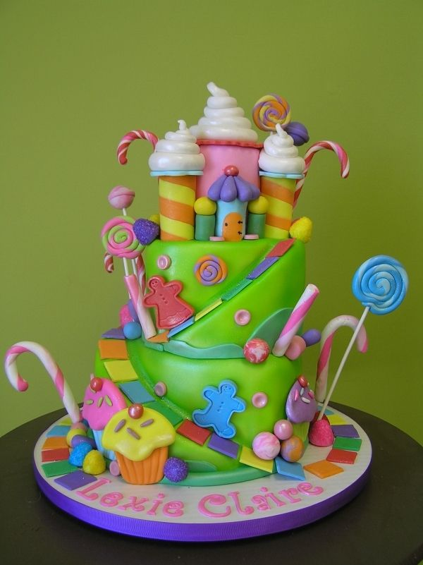 Candy Land Cake --It's Written on the Wall