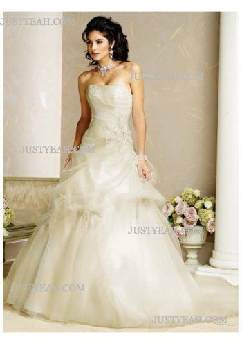 Formal custom made sumptuous Strapless Wedding Dresses 2016