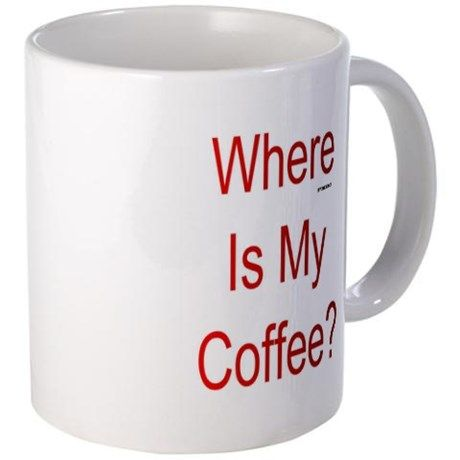 Where Is My Coffee? Red Letters Mugs