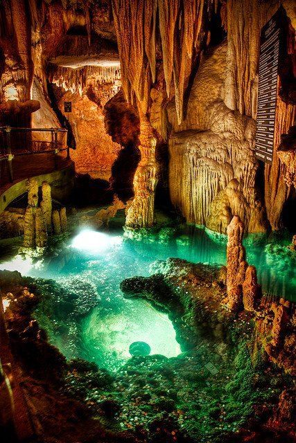 Luray Caverns, Virginia.... almost a million dollars has been thrown into this wishing well
