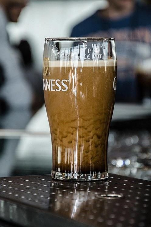 Lace of a properly poured Guiness