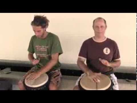 "How To Solo On Djembe For Beginners, FULL Djembe Lesson w / Slow Motion: ""4/4 Drum Rhythms"" - YouTube"