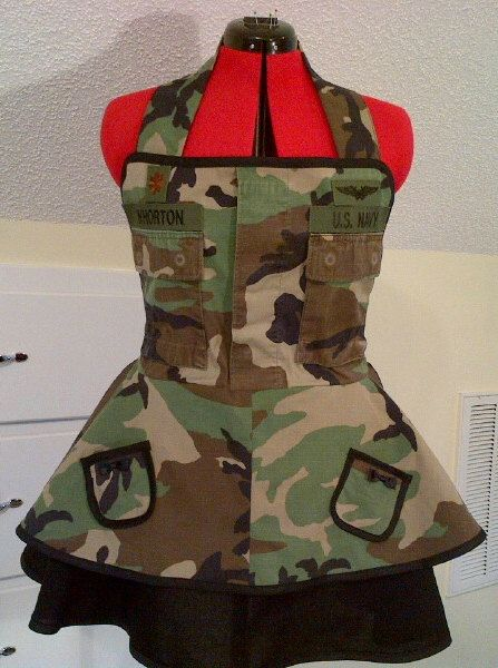 Custom Navy Wife Clothing Personalized Apron Bdu By