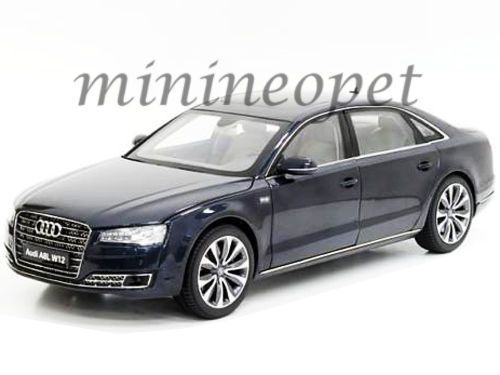 #transformer kyosho 09232 msb 2014 14 audi a8 l w12 118 diecast model car moon shine blue