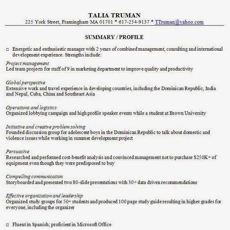 resume summary examples httpgetresumetemplateinfo3763resume