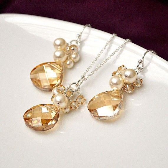 Champagne wedding jewellery