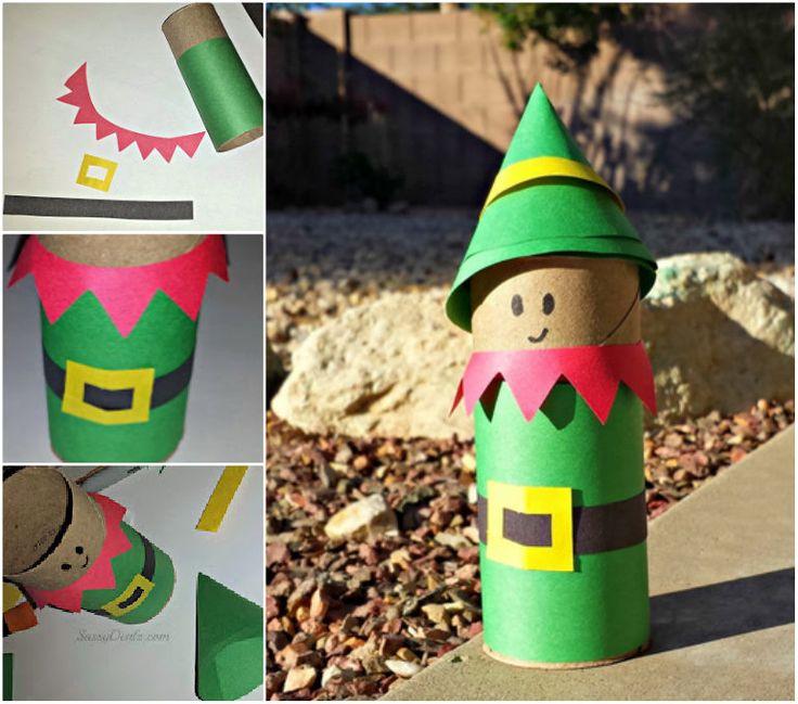 Toilet Roll Santa's Elf