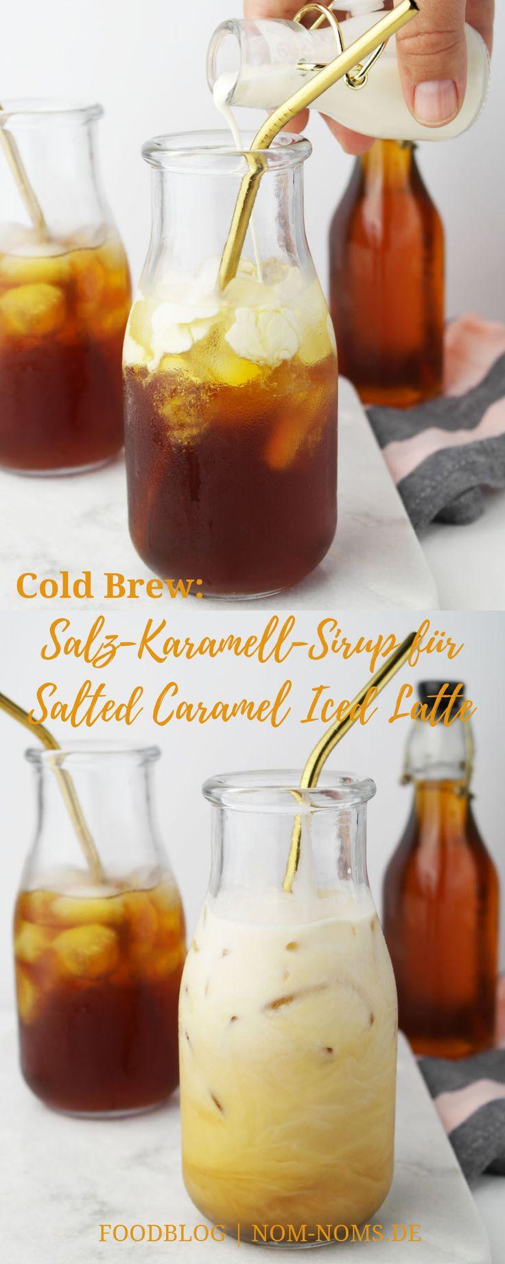 Salt Caramel Syrup for Salted Caramel Iced Latte with Cold Brew   – Blog   Nom Noms food ♥