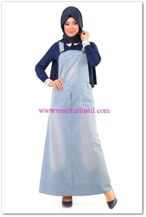 Tuğba Venn 2015 kot salopet elbise