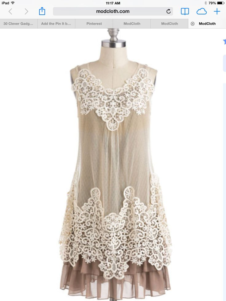 The lace and tulle can be added to at shirt dress. So easy.