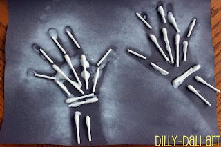 My kinders loved learning about bones. Here are some of the ideas I found online (links below) and of course, a Fairy Dust idea! I love this idea from Dilly Dali. For instructions:  Cotton Swab Bones This would be so great to build as a class. Instructions at: http://pickupsomecreativity.blogspot.com/ Super easy plastic fork skeleton! …