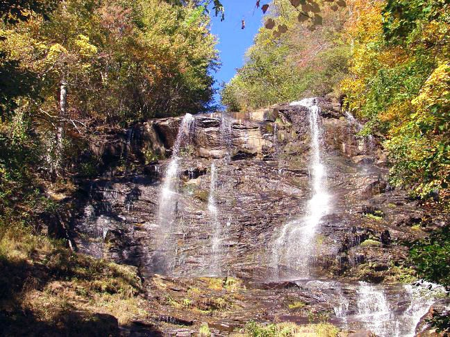 this is at amicalola falls state park in ellijay georgia on a walking