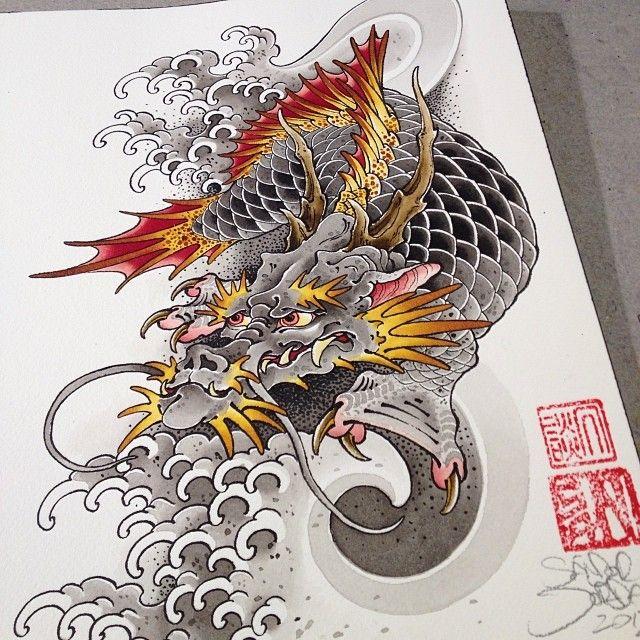 Asian Dragon Tattoo Sketch By Marinaalex On Deviantart: 17 Best Ideas About Dragon Koi Fish On Pinterest