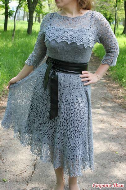 """Мое платье """"Юбилейное. Серебряное"""" по мотивам Оренбурских шалей"""