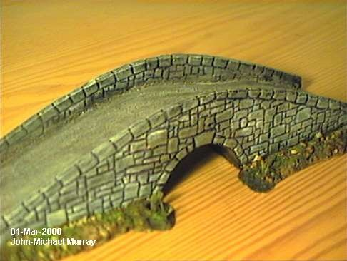 Scratch-building a stone bridge in 1/72 scale.  From an article the MiniatureZone.co.uk blog.