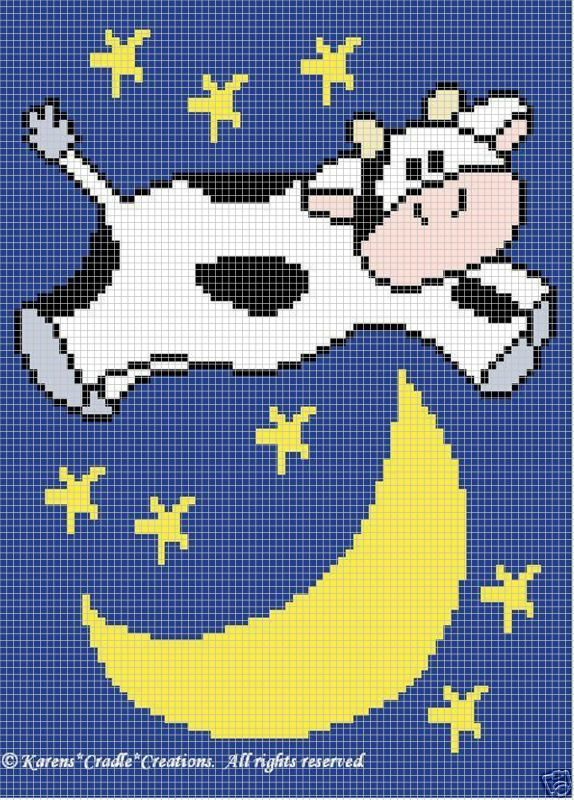 Details About Crochet Patterns Cow Jumped Over The Moon