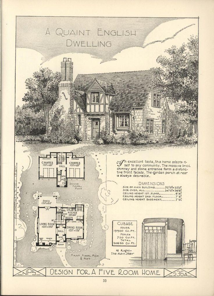 lake shore lumber coal house plans - Vintage Storybook House Plans