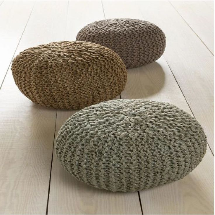 Creating a key piece for your space, this perfect pouf will effortlessly radiate natural charm in your room. Handmade in 100% Jute in India, the sleek cable knit styling and smooth coloring allow this perfect piece to emanate a subtle sophistication in any decor. #moderndecor