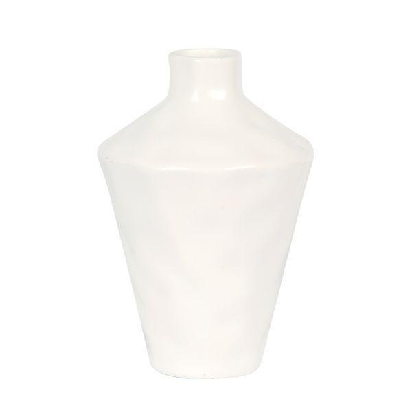 Florero-Conico-23Cm-Ceramica-Blanco-------------------------