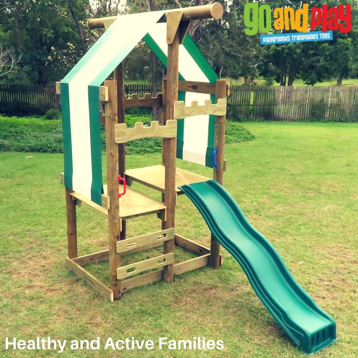 Base OzFort Playground avail with Standard Slide & 1200m platform or Upgraded Slide & 1500m platform.  Encourage children to run, jump swing, slide and play outside. Modular System - OzFort can be added onto now or laer