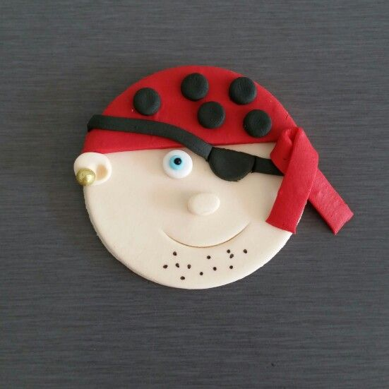 Pirate edible fondant toppers