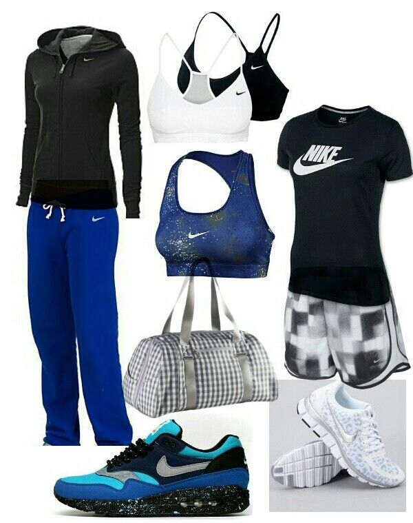 Nike outfit - blue, black, white