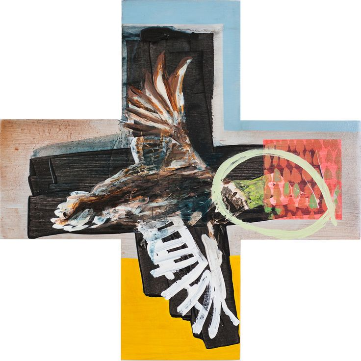 """Title: Now Duck Series: Greater than Date: 2015 Status: Sold Medium: Acrylic and mixed media painting on plywood board Size: 450mm x 450mm plus shape Price: $500 NZ Description:  """"Since returning home to where I grew up, I have noticed the Mallard ducks in the pond at the bottom of the garden have done…Continue reading →"""